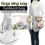 poppypet Pet Sling Carrier, Hands-free Sling Pet Dog Cat Carrier Rabbit Bag Comfortable Shoulder Bag, Double-sided Pouch… 10