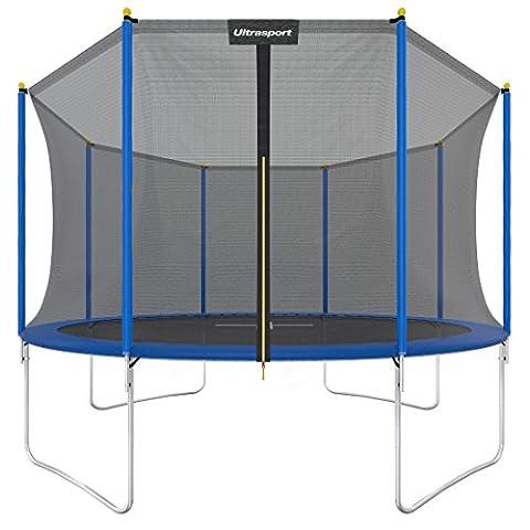 Ultrasport Gartentrampolin Uni-Jump, Kindertrampolin, Trampolin Komplettset inklusive Sprungmatte, Sicherheitsnetz, gepolsterten
