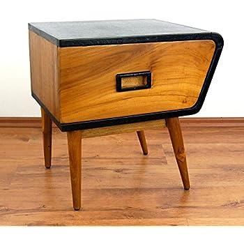 java retro kommode aus teakholz vintage schubladenschrank aus massivholz nachtschrank der. Black Bedroom Furniture Sets. Home Design Ideas