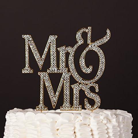 Mr & Mrs Wedding Cake Topper, Modern Monogram Decoration, Silver