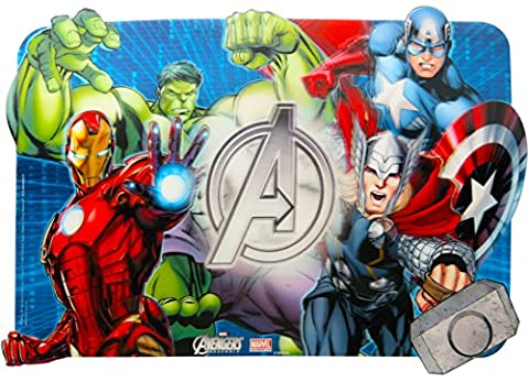 New! Boys & Girls 3D Dinner Activities Placemats in Different Designs (Red (Avengers))