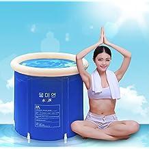 Plegable bañera de barril del baño de tina de baño de adultos inflable, bañera cubo de plástico grueso. ( Tamaño : S )