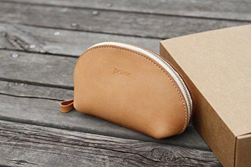 Leder Hand gegerbtes Leder Geldbörse mit Reißverschluss Tasche Schale große Frauen Primary colors