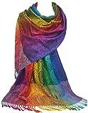GFM Silky Feel pashmina stile sciarpa Wrap in cachemire/elefante/floreale ..PAIS3915 - Paisley Large