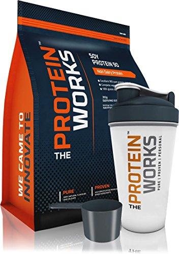 The Protein Works - Protéine de Soja 90 - Protéine Pour Végétaliens et Végétariens - Shaker et Cuillère Doseuse Gratuits - 500g à 2kg