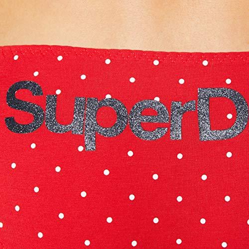 Superdry Damen SUPER Standard Brief 3 Pack Taillenslip, Rot (Red Multipack J6H), 34 (Herstellergröße:10) - 3