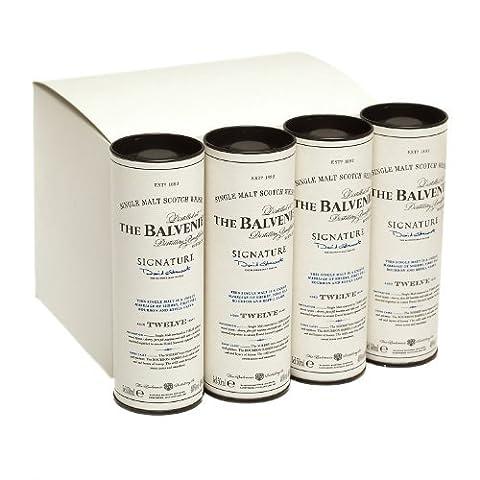 Balvenie 12 jahre alt Signatur Einzel Malt Scotch Whisky 5cl Miniatur - 12er Packung