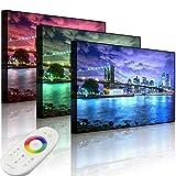 Lightbox-Multicolor - Immagine LED Skyline New York, 80 x 60 cm