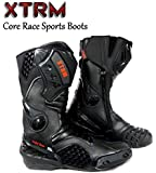 MOTORBIKE XTRM CORE ADULT BOOTS Motorcycle New Track Racing Touring Sports Armour Boots Black