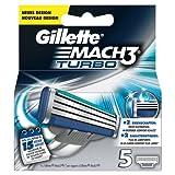 Gillette MACH3 Turbo Klingen 5 Stück