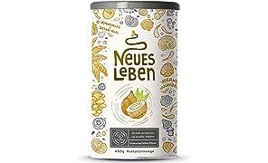 Neues Leben   Schwarzes Detox-Elixier   Formel mit Aktivkohle, Matcha, Aloe Vera, tonischen Vitalpilzen   600 Gramm