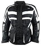 1152 Bangla Motorradjacke Tourenjacke Cordura600 schwarz-weiss 5XL