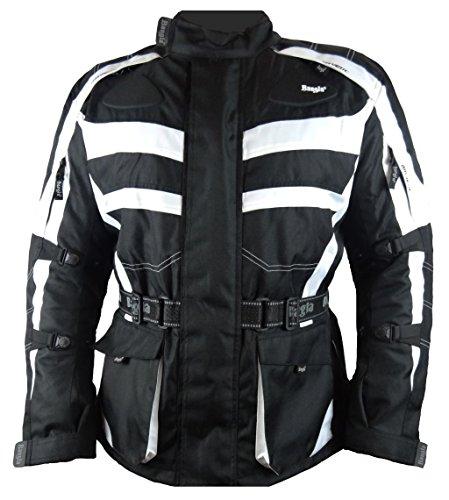 1152 Bangla Motorradjacke Tourenjacke Cordura600 schwarz-weiss M