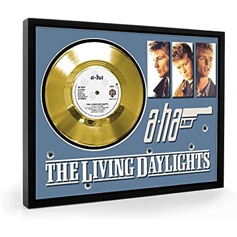 Aha The Living Daylights Framed Disco d'oro Display Vinyl (C1)