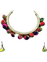 Zovika Multi Color Alloy Necklace Set For Women Z-001