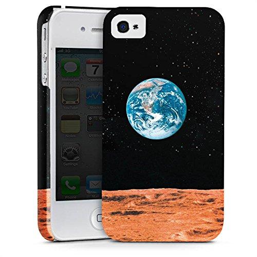 Apple iPhone X Silikon Hülle Case Schutzhülle Erde Mond Moon View Premium Case glänzend