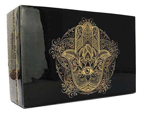 Piquaboo - Joyero de Madera Brillante para joyería, Fatima, 15x10 cm