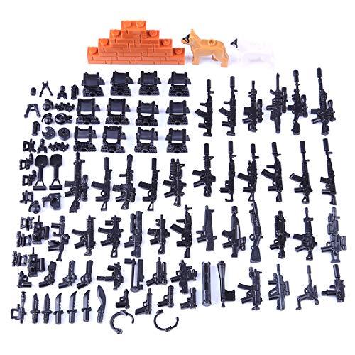 LDB SHOP Custom Military Waffen Set Und Zubehör für Mini Soldaten Figuren Mini Figuren Set Swat Team Kompatibel Mit (Swat Team Kostüm)
