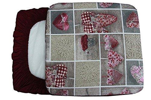 6 cuscini coprisedia fascia elastica copri sedie cuore allungato bordeaux