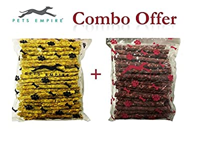 Pets Empire Best Combo offer Dog Chew, Chicken, 500 g with Dog Chew Sticks, Mutton, 500 g