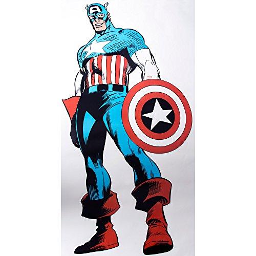 icker Captain America Wandtatto Kinderzimmer Spielzimmer (Captain America-dekor)