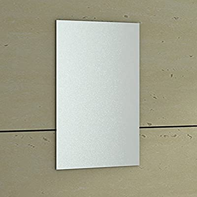 ENKI 400 x 600 mm Rectangular Bathroom Wall Mounted Glass Frameless Mirror Bevelled HORIZON - inexpensive UK light store.