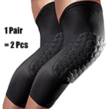 UWILD ® Sport Elastische Kniestütze Sport Knieschoner Kniebandage Knieorthese Knieschützer (2 pcs) -Knieprotektor beim Laufen Jogging Fitness (M)