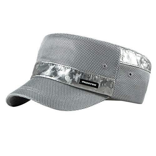Cadet Kragen Jacke (LSAltd Feste Krempe Flat Top Cadet Caps verstellbare Korps Vintage Flat Top Hüte)