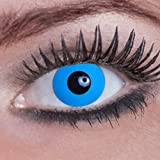 Eyecatcher Color Fun - Farbige Kontaktlinsen - Blue Elfe - Blaue Elfe - 1 Paar - Ideal für Karneval, Fasching, Halloween & Party