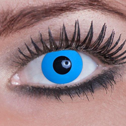 - Farbige Kontaktlinsen - Blue Elfe - Blaue Elfe - 1 Paar - Ideal für Karneval, Fasching, Halloween & Party (Glow Halloween-partys)