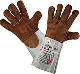 Schweißerhandschuhe FULDA - ISO - Arbeits-handschuhe - Sicherheitshandschuhe für Schweisser - Größe: 12