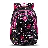 XHHWZB Rucksäcke für Mädchen Schultaschen Casual Daypacks Reisetasche (Schwarz)