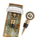 Blue Vessel Wine Stopper Golden Compass Innovative Weinflasche Stopper Antik Hochzeit Gefälligkeiten Xmas Party Geschenke