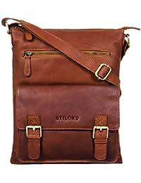 STILORD  Mason  Vintage Besace Cuir Sac à Bandoulière MacBook 13 Pouces  Sacoche Unisexe Hommes af2baf0ce6d8