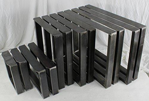 PAAR Klarlack BestLoft® Kufen Design Tischkufen Industriedesign Tischgestell vintage Stahl Tischuntergestell Tischkufe Kufengestell (60x72cm)