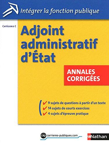 Adjoint administratif d'Etat - Annales corrigées