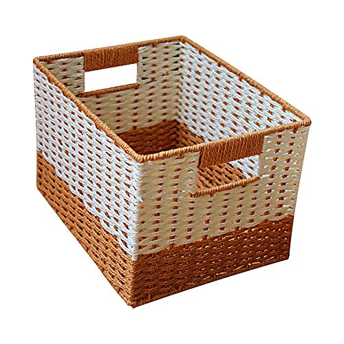 , leichte, robuste stapelbare Papierseile, die tragbare Behälterbox ohne Deckel weben (Farbe : Mittel) ()
