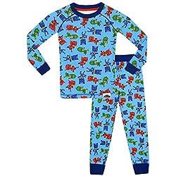 PJ MASKS - Pijama para Niños - PJ Masks - Ajuste Ceñido -