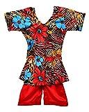 MD Girls' Nylon Swimwear (7044/1, Multi, 24)
