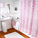 MXueei ZfgG Rosa Polyester-Duschvorhang, Umweltschutz Wasserdicht Verdicken Trennvorhang -Dauerhaft (Größe : 300x200cm(118x79inch))