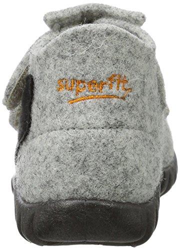 Superfit Jungen Happy Hohe Hausschuhe Grau (Stone Multi)