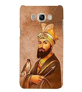 FUSON Guru Gobind Singh Ji 3D Hard Polycarbonate Designer Back Case Cover for Samsung Galaxy On8 Sm-J710Fn/Df