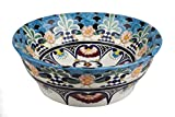 LA REINA - Farbiges Waschbecken aus Mexiko, Aufsatzwaschbecken, Keramik, Talavera