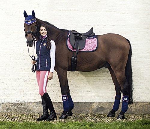 HKM Sports Equipment Lauria Garrelli Schabracke -Queens Paisley-, Paisley-Navy, Pony Vielseitigkeit/Pony