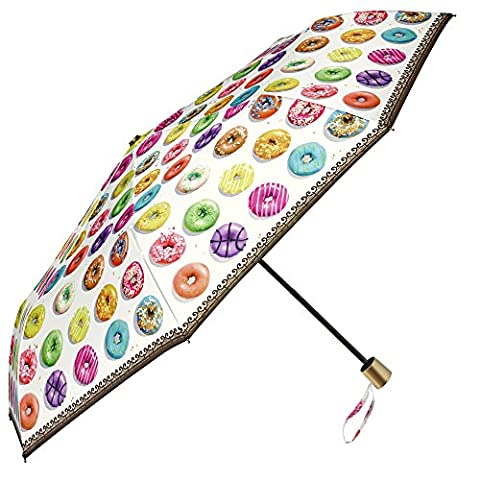 Foldable and lightweight umbrella – Mini umbrella by Perletti – Compact women's umbrella ideal for travel and to carry in the purse - Manual opening and closing- Diameter 97 cm