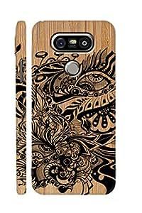 SRS Graffiti Design On Wood 3D Back Cover for LG G5