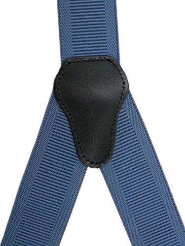 Bretelles entièrement réglable pour Homme / Femme avec 3 Clips - 3.5cm Bleu