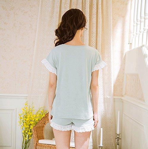 Il vestito di servizio domestico del pigiami della ragazza del fumetto sveglio ( Colore : Blu , dimensioni : L. ) Blu