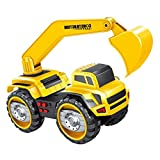 deAO Camiones de Construcción a Fricción - Camión de Arrastre y Empuje (Camión Excavador)
