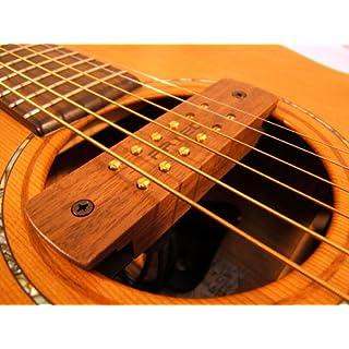 ARTEC Tonabnehmer für das Schallloch Nussbaum Akustik Gitarre 6 und 12 Saiten Typ HUMBUCKER